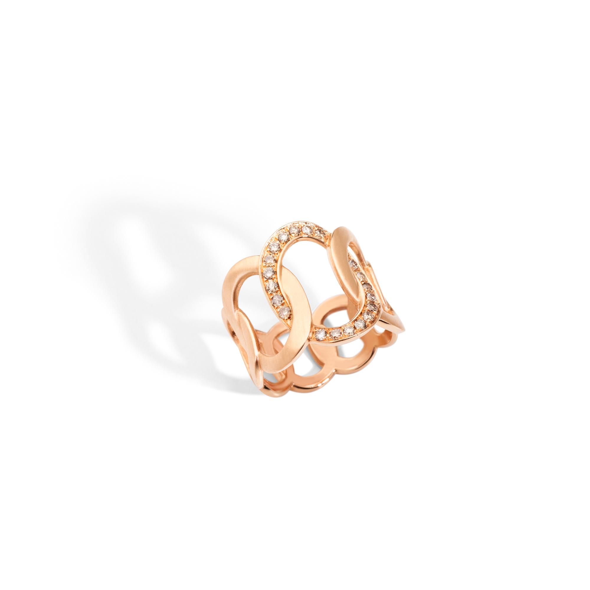 Pomellato Brera Ring aus Roségold mit Brillanten