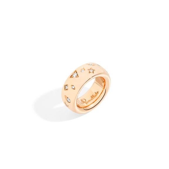 Pomellato Iconica Ring aus Rosegold mit Brillanten