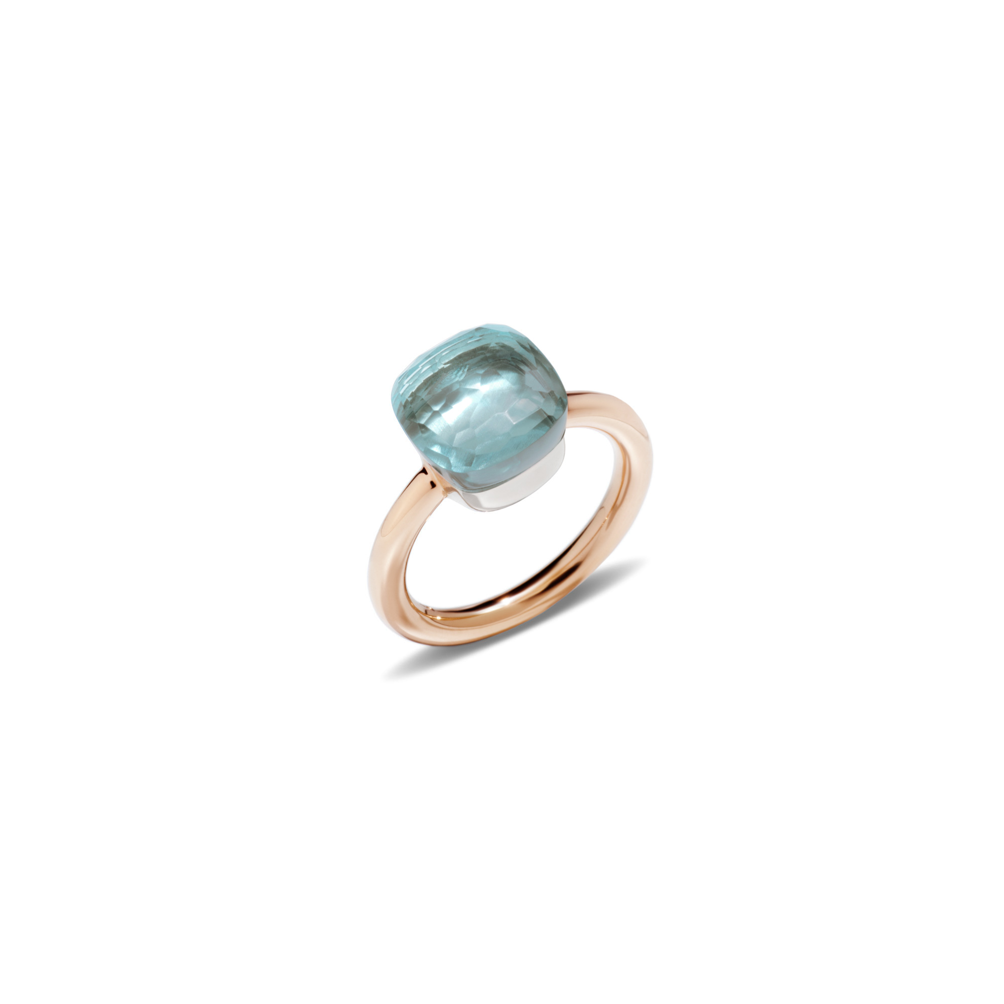 Pomellato Nudo Ring aus Rosegold mit blauem Topas