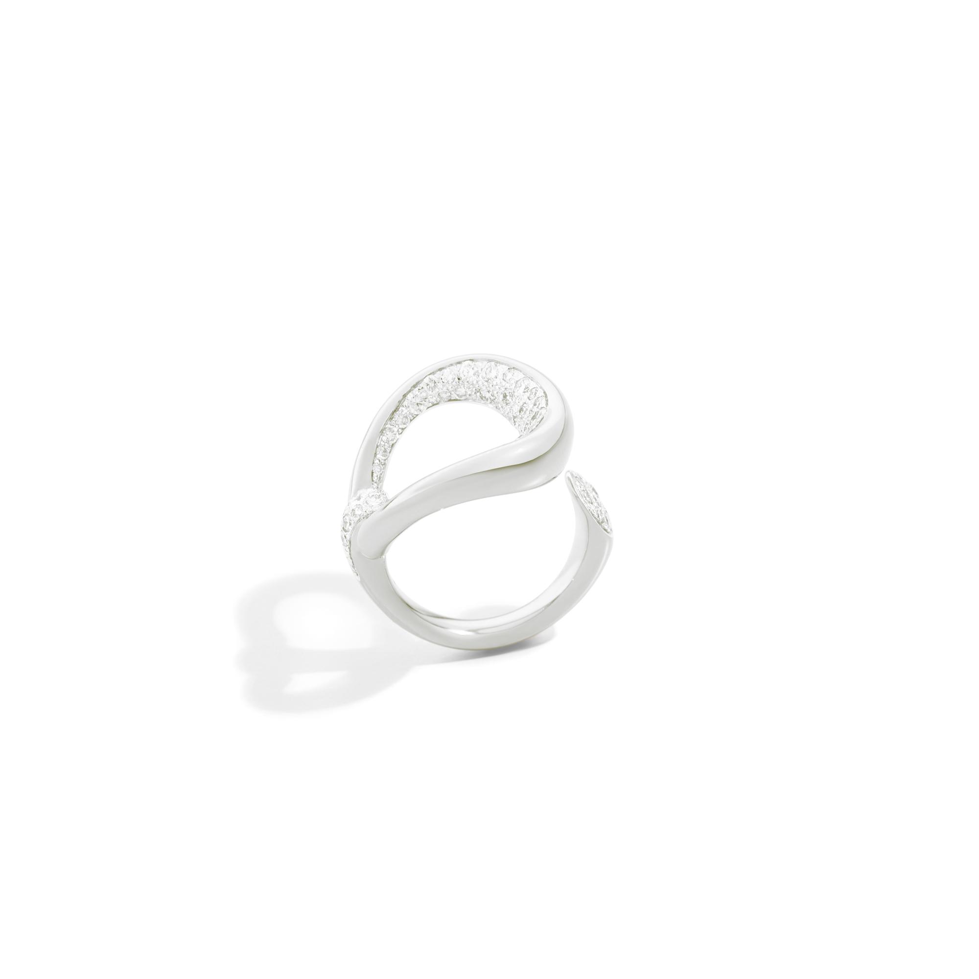 Pomellato Fantina Ring aus Weissgold mit Brillanten