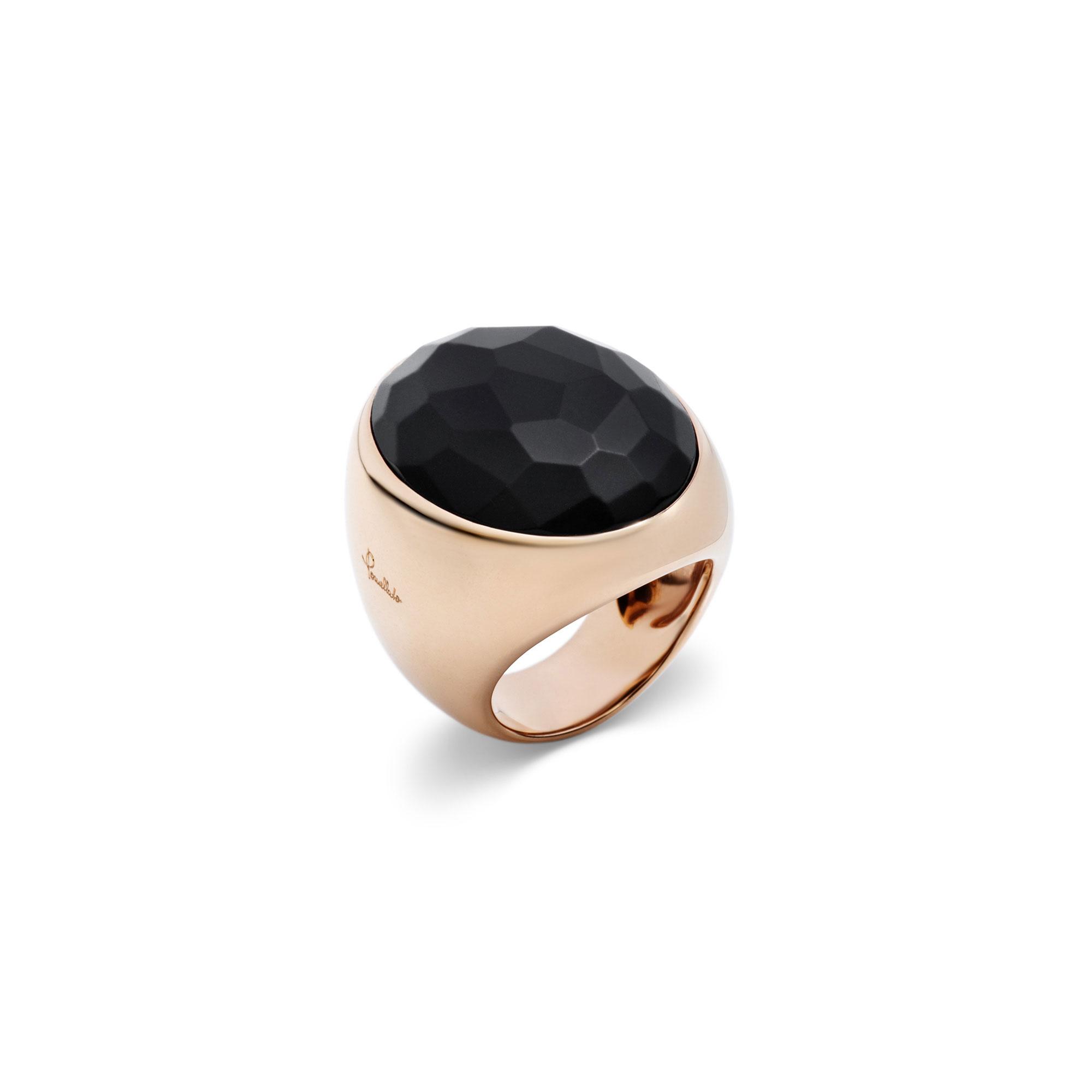 Pomellato Victoria Ring aus Roségold mit Jet