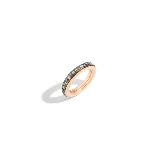 Pomellato Iconica Ring aus Roségold mit Diamanten