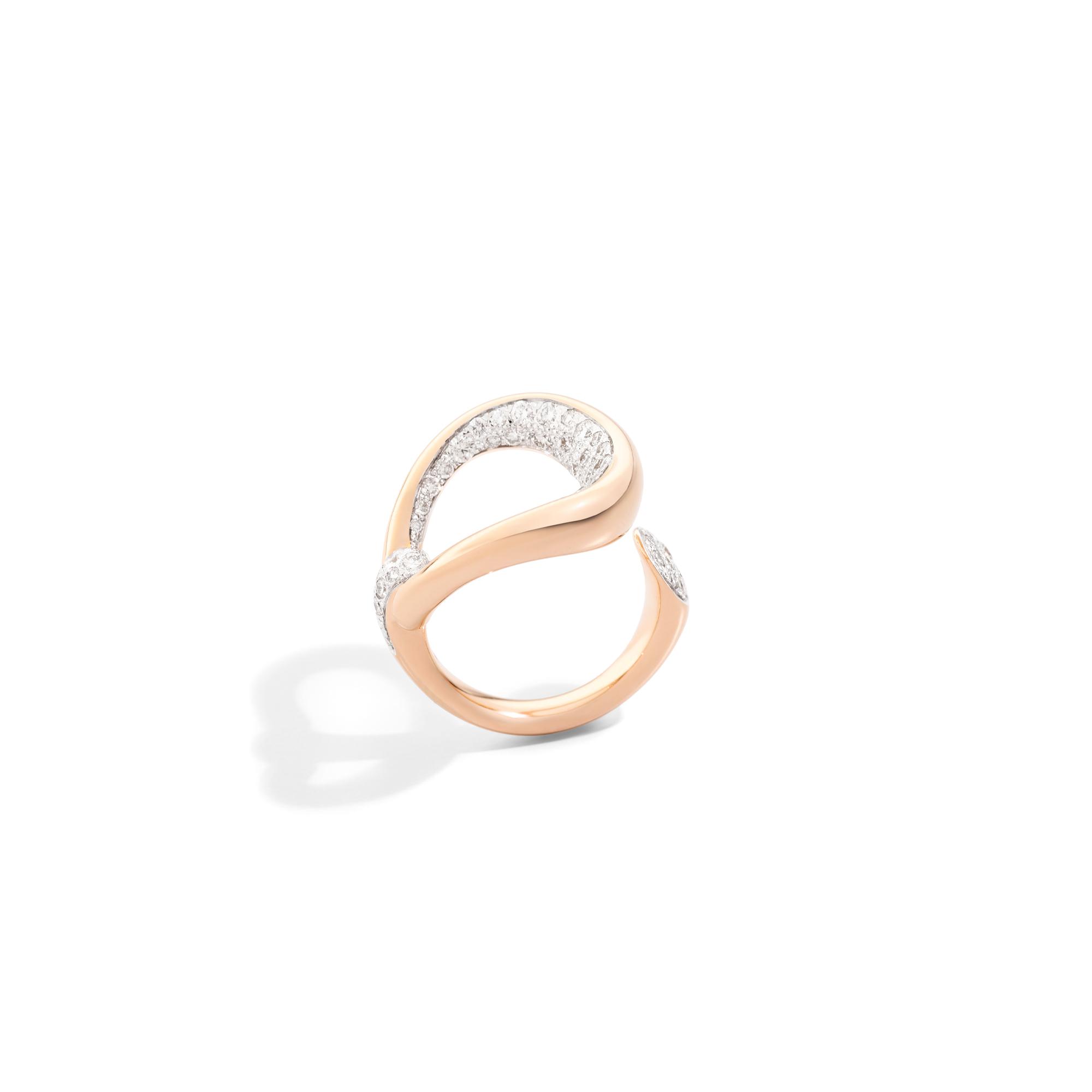 Pomellato Fantina Ring aus Roségold mit Brillanten