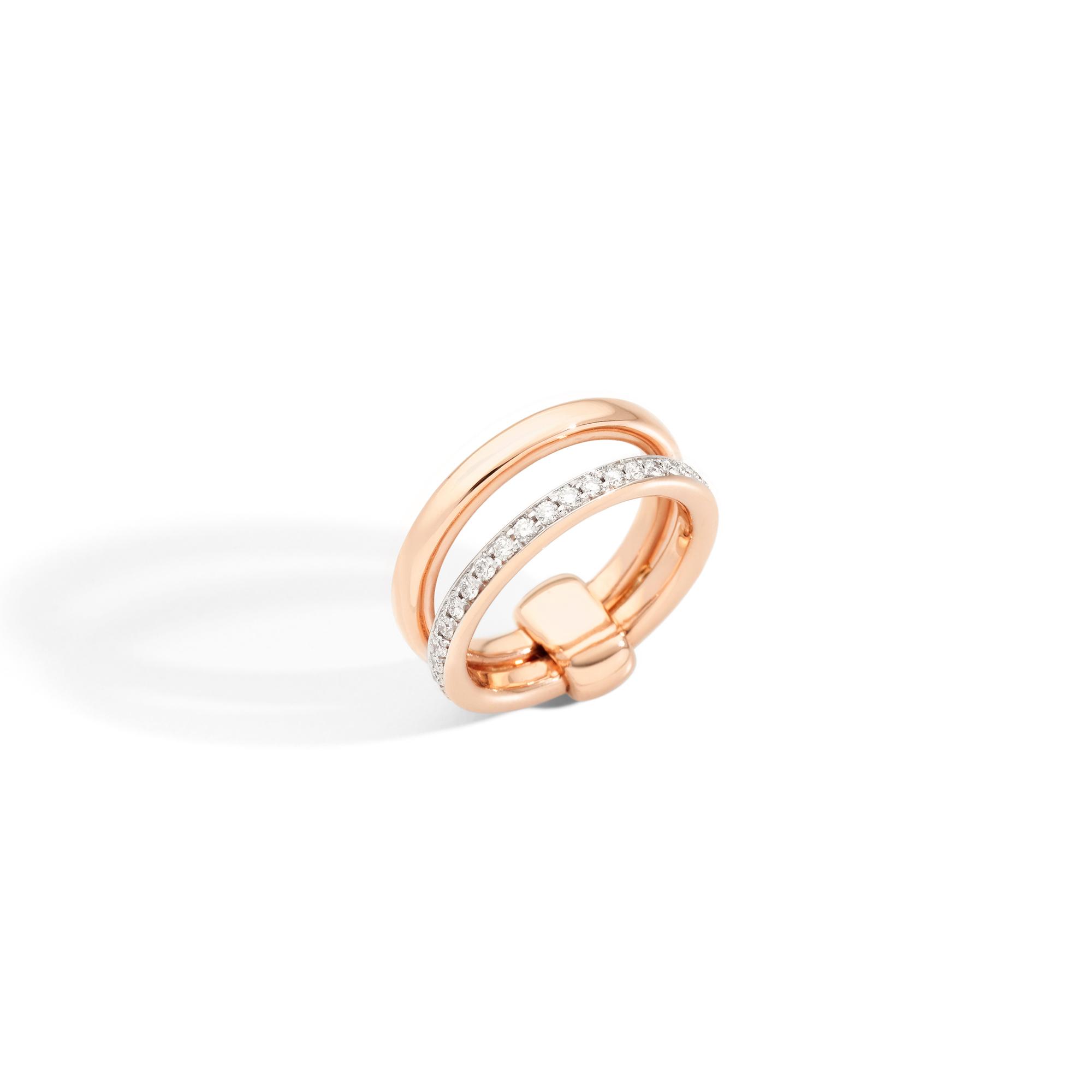 Pomellato Iconica Ring aus Roségold mit Brillanten
