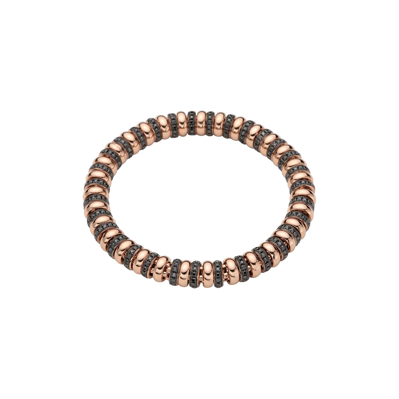 Flexibles Armband von Fope aus 18 Karat Roségold mit schwarzen Diamanten