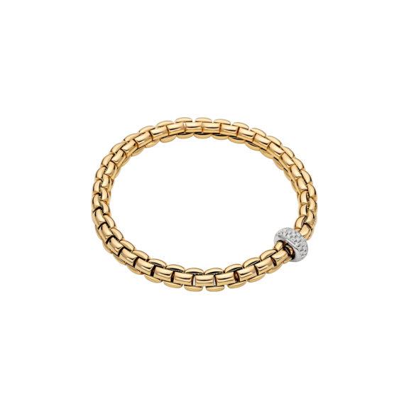 Flexibles Armband von Fope aus 18 Karat Weißgold mit Brillanten