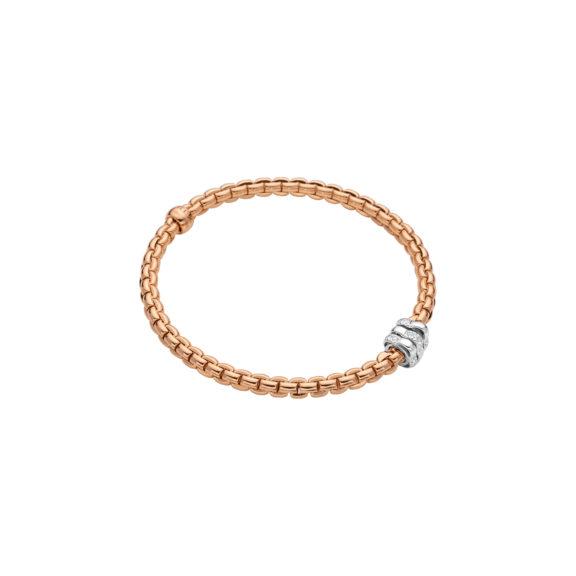 Flexibles Armband von Fope aus 18 Karat Rosé- und Weißgold mit Brillanten