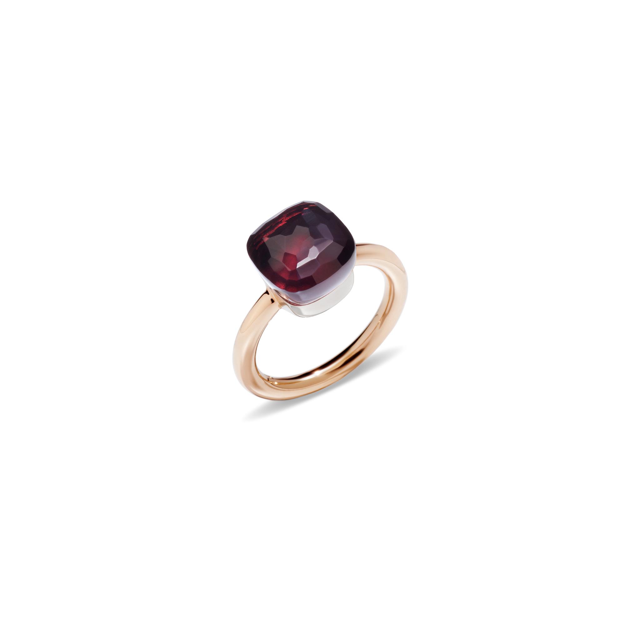 Pomellato Nudo Ring aus Roségold mit Granat