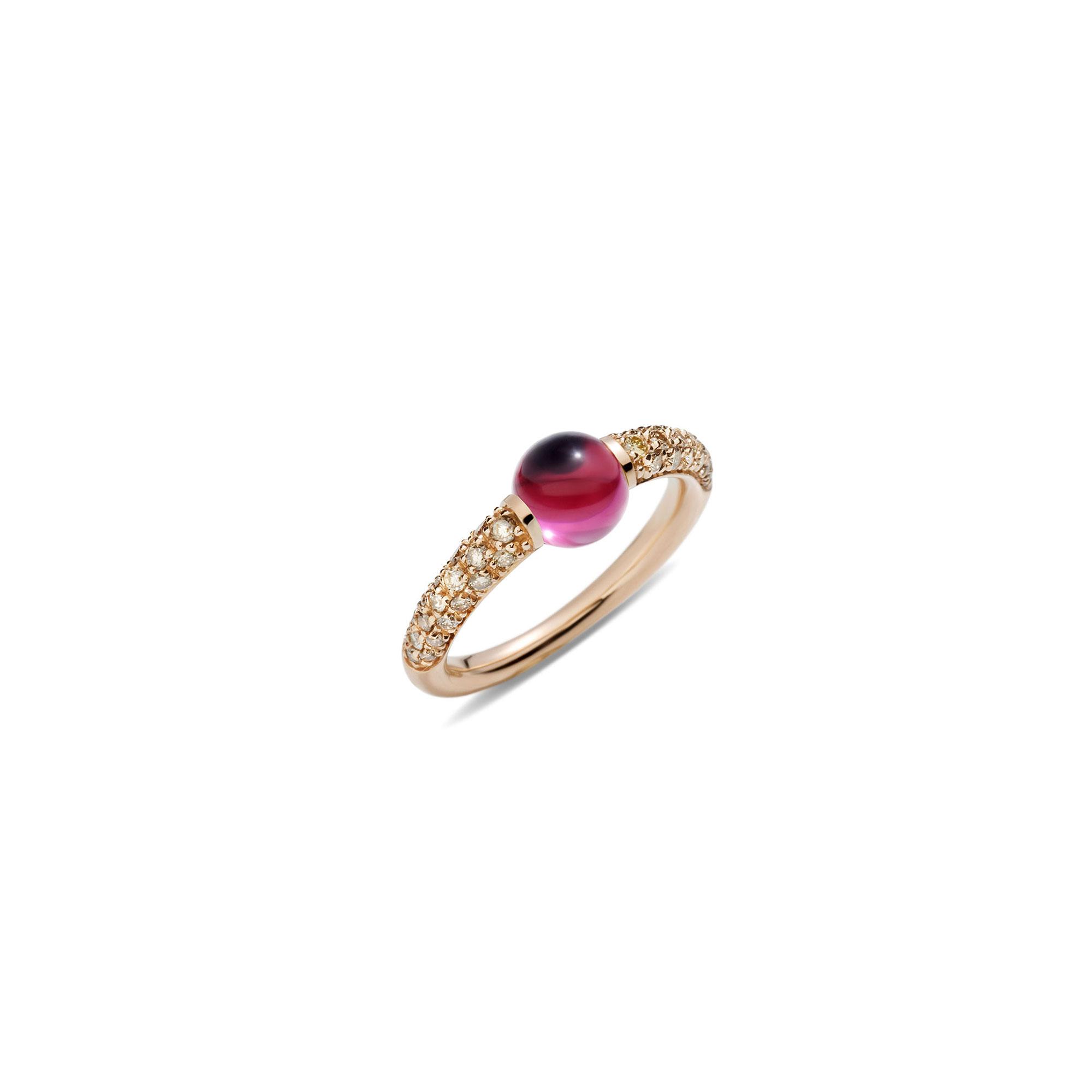 Pomellato M´ama non m´ama Ring aus Rosegold mit Rodolith-Granat und Diamanten