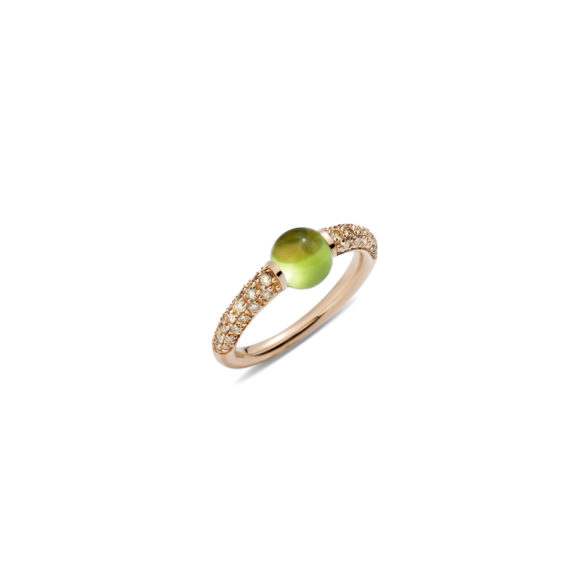 Pomellato M´ama non m´ama Ring aus Rosegold mit Peridot und Diamanten