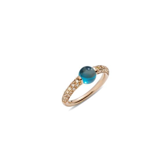 Pomellato M´ama non m´ama Ring aus Rosegold mit Topas und Diamanten