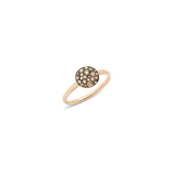Pomellato Sabbia Ring aus Roségold mit Diamanten