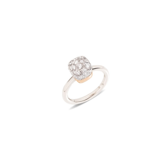 Pomellato Nudo Ring aus Weißgold mit Diamanten