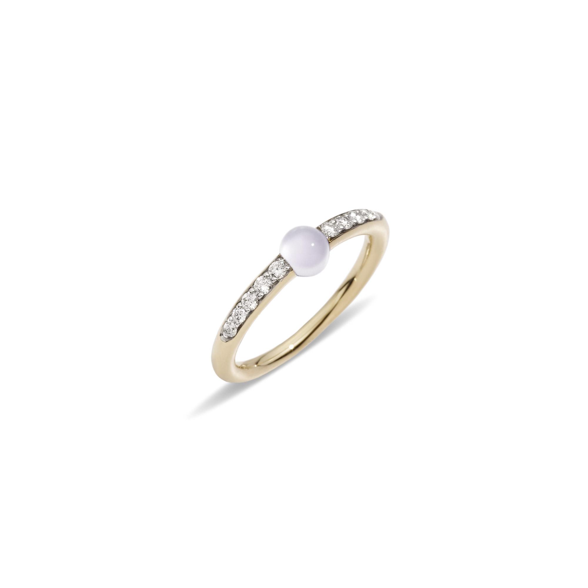 Pomellato M´ama non m´ama Ring aus Rosegold mit Adular und Diamanten