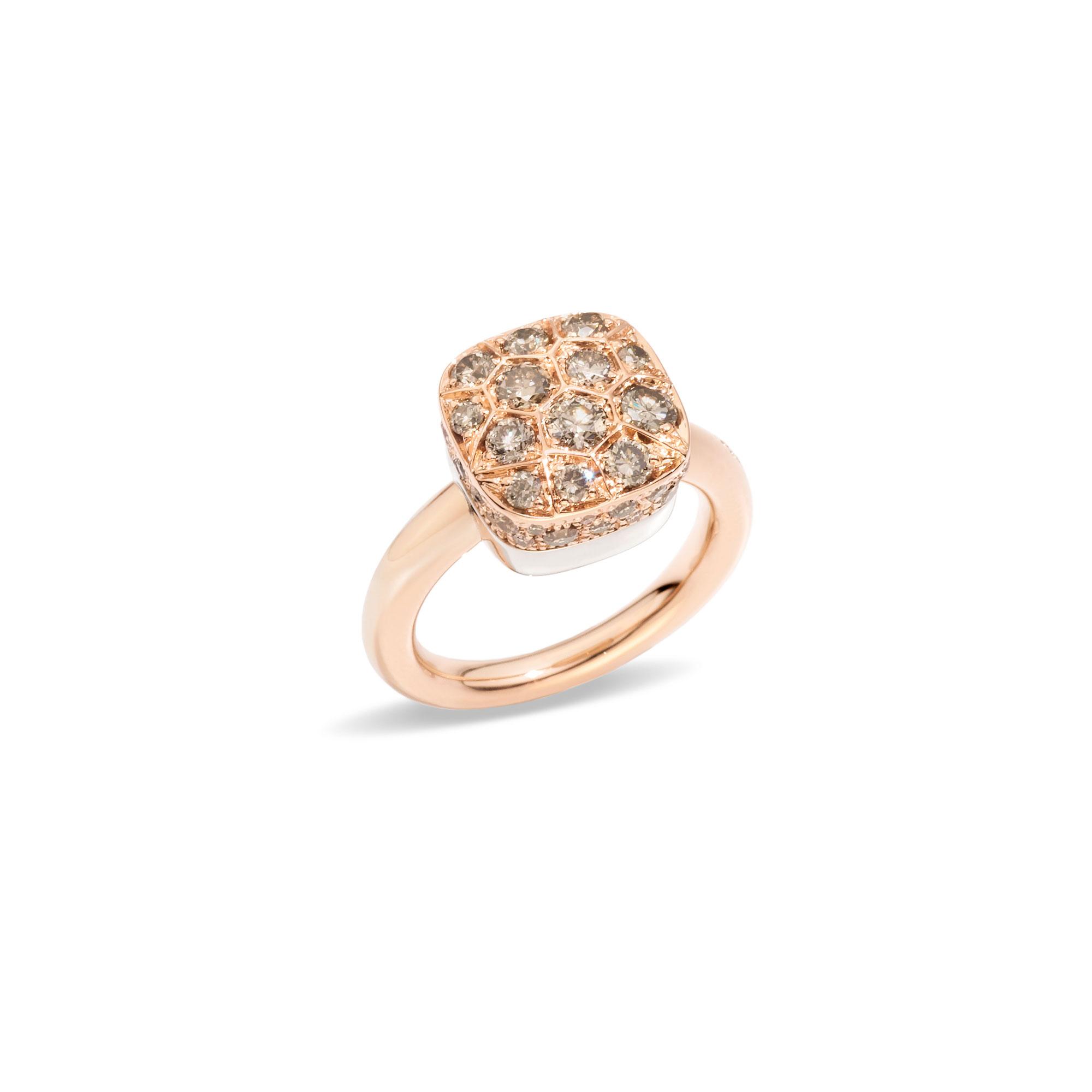 Pomellato Nudo Ring aus Roségold mit Diamanten
