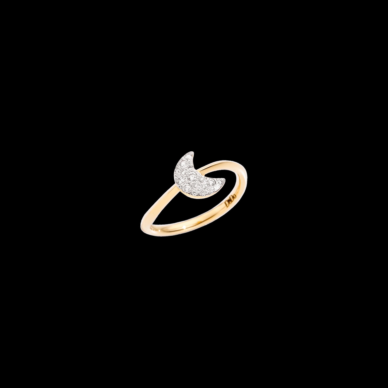Dodo Ring Mond aus 18 Karat Gelbgold mit Diamanten