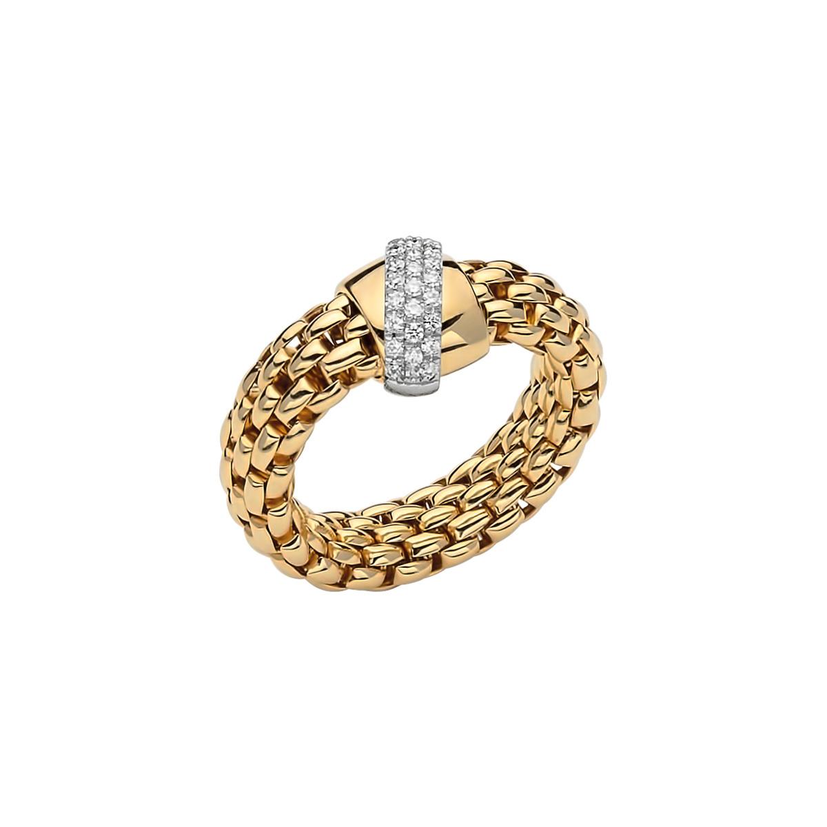 Ring von Fope aus 18 Karat Gelb- und Weißgold mit Brillanten