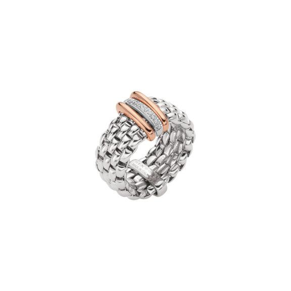Ring von Fope aus 18 Karat Weiß-, und Roségold mit Brillanten