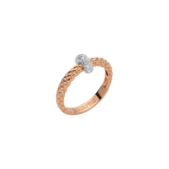 Ring von Fope aus 18 Karat Rosé- und Weißgold mit Brillanten