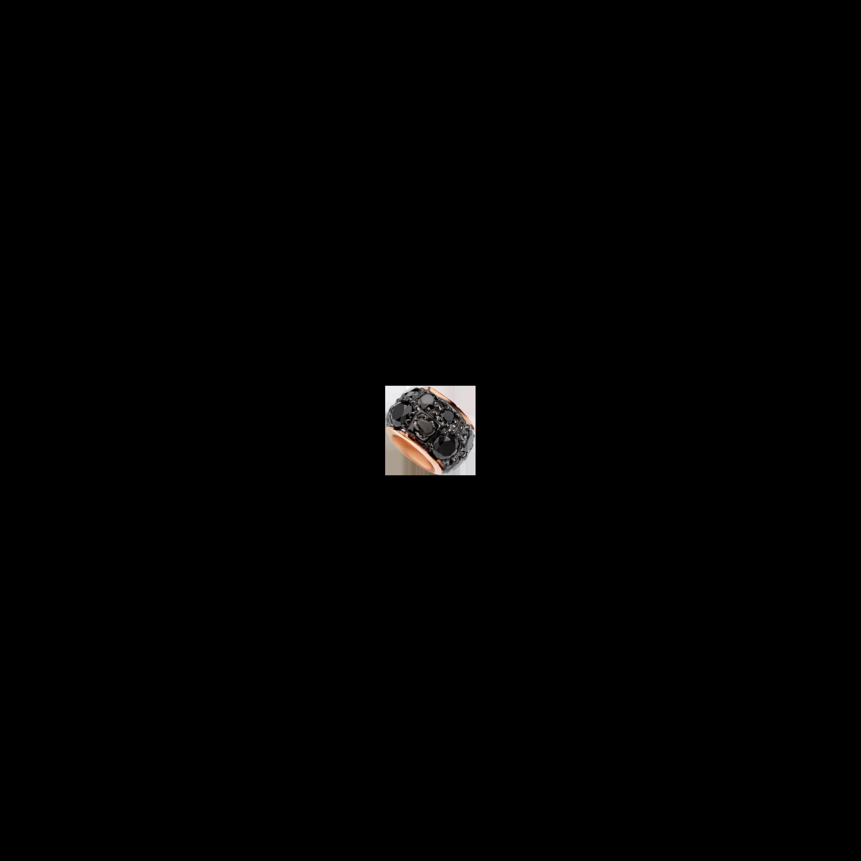 Dodo Rondella aus 9 Karat Roségold mit schwarzen Diamanten