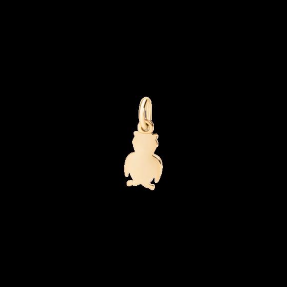 Dodo Anhänger Eule aus Gelbgold