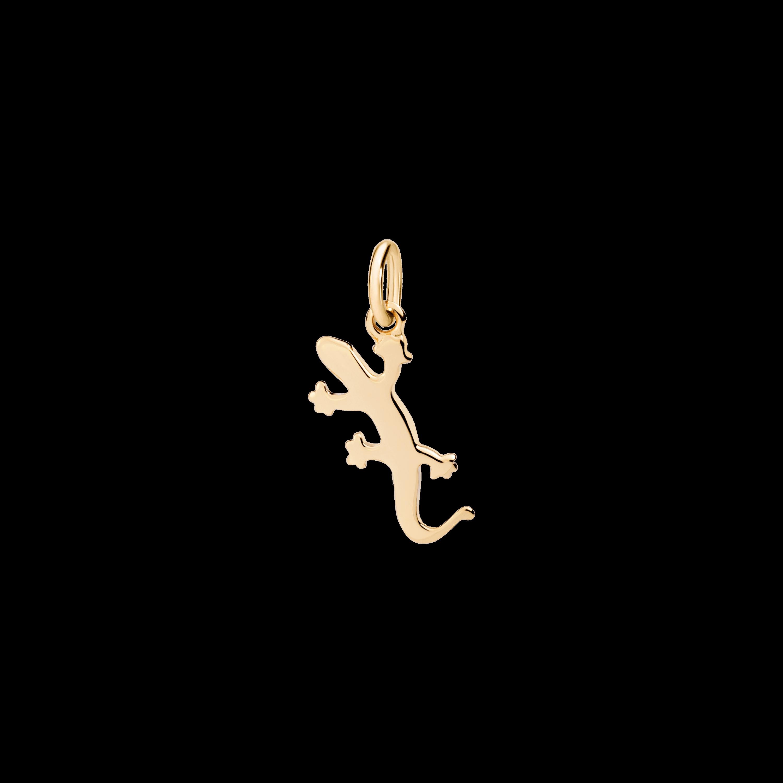 Dodo Anhänger Gecko aus Gelbgold