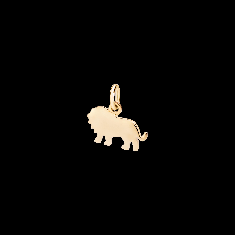 Dodo Anhänger Löwe aus Gelbgold