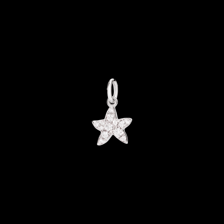 Dodo Anhänger Stern aus 18 Karat Weißgold mit Diamanten