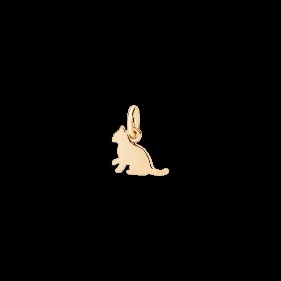 Dodo Anhänger Katze aus Gelbgold