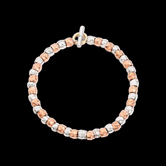 Dodo Armband aus Silber und 9 Karat Roségold