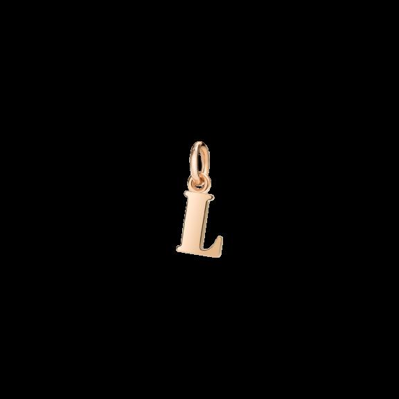 Dodo Anhänger Buchstabe L aus 9 Karat Roségold