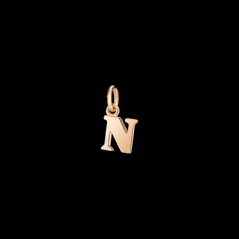 Dodo Anhänger Buchstabe N aus 9 Karat Roségold