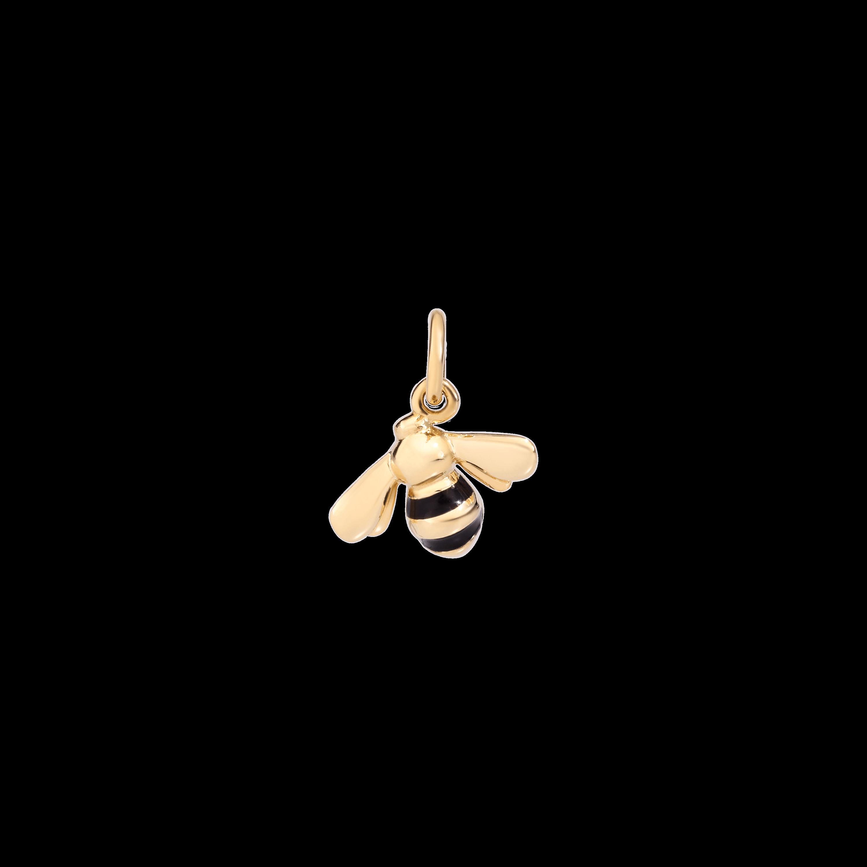 Dodo Anhänger Biene aus Gelbgold mit Emaille