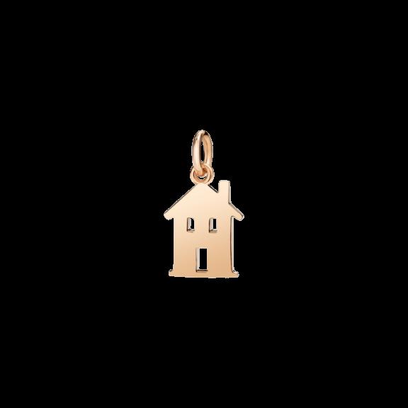 Dodo Anhänger Haus aus 9 Karat Roségold