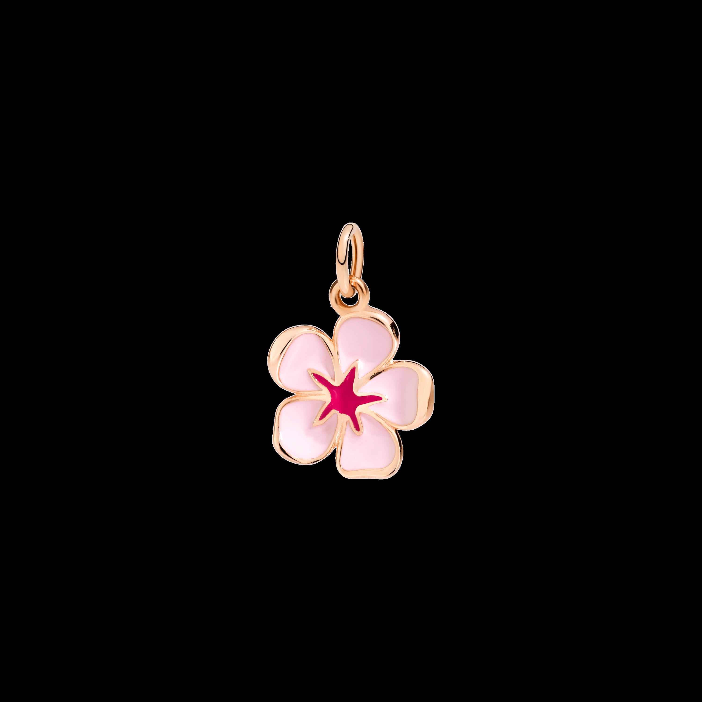 Dodo Anhänger Kirschblüte aus 9 Karat Roségold mit Emaille