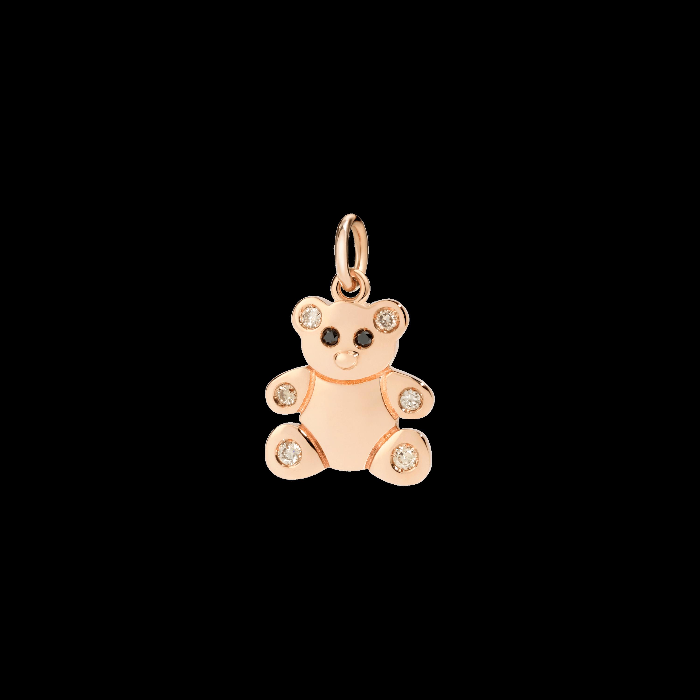 Dodo Anhänger Teddybär aus 9 Karat Roségold mit Diamanten