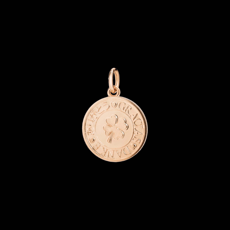 Dodo Anhänger Münze aus 9 Karat Roségold