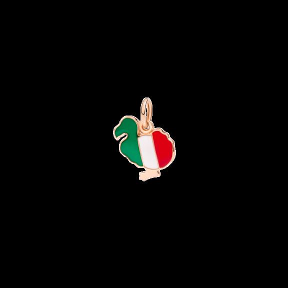 Dodo Anhänger italian Dodo aus 9 Karat Roségold mit Emaille