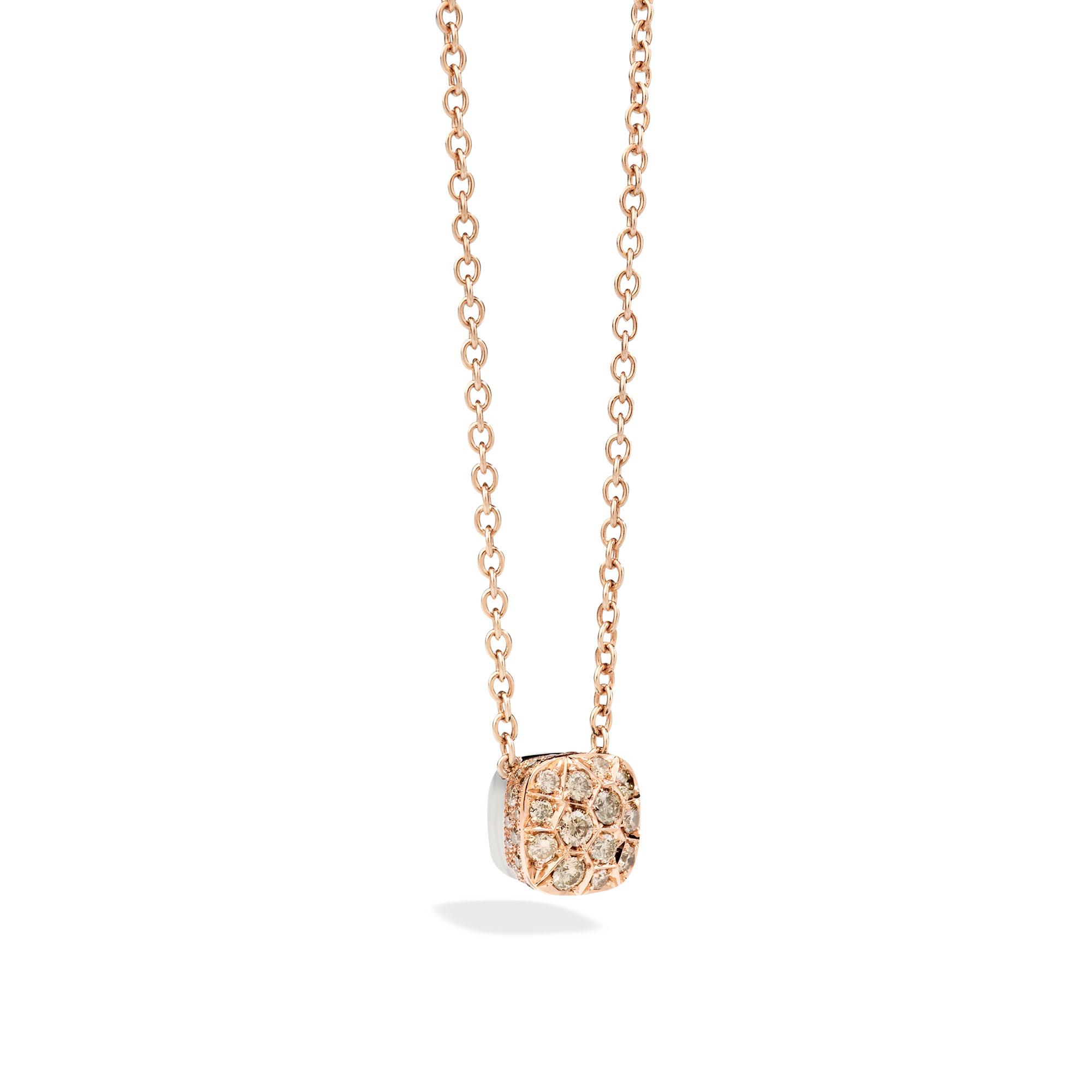 Pomellato Nudo Collier aus Roségold mit Diamanten
