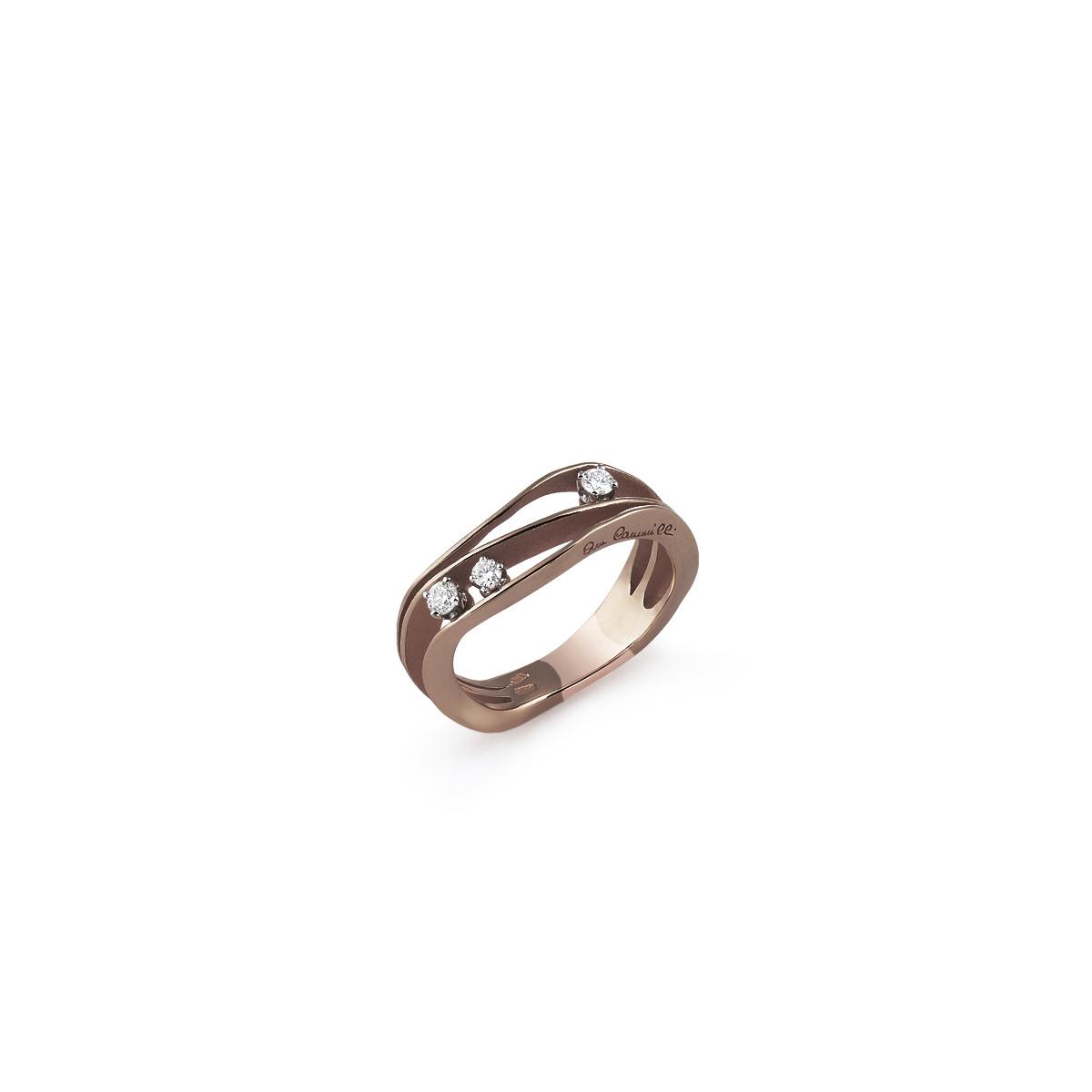 Annamaria Cammilli Dune Ring aus 18 Karat Brown Chocolate Gold mit Brillanten