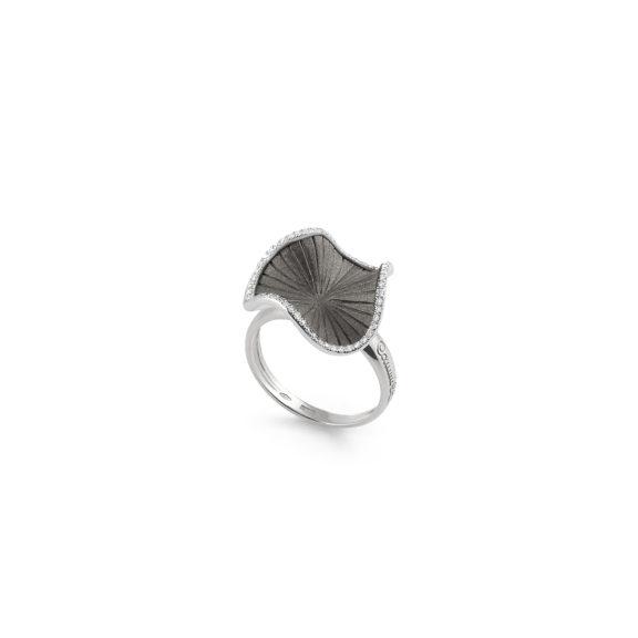 Annamaria Cammilli Sultana Ring aus 18 Karat Black Lava Gold mit Brillanten