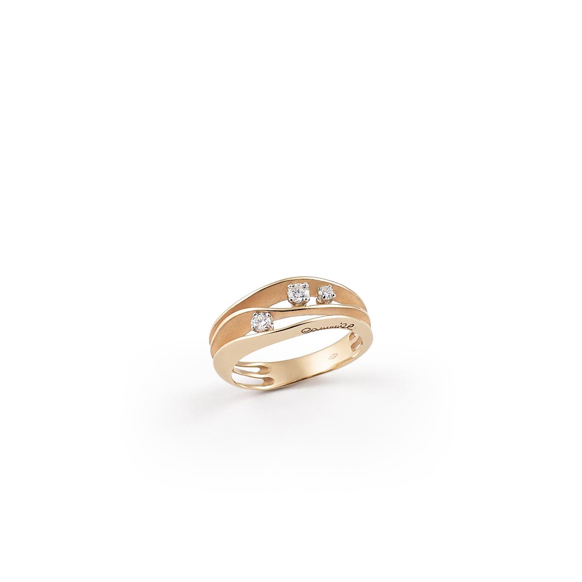 Annamaria Cammilli Dune Ring aus 18 Karat Orange Apricot Gold mit Brillanten