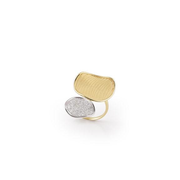 Annamaria Cammilli Velvet Ring aus Gelb- und Weißgold mit Brillanten