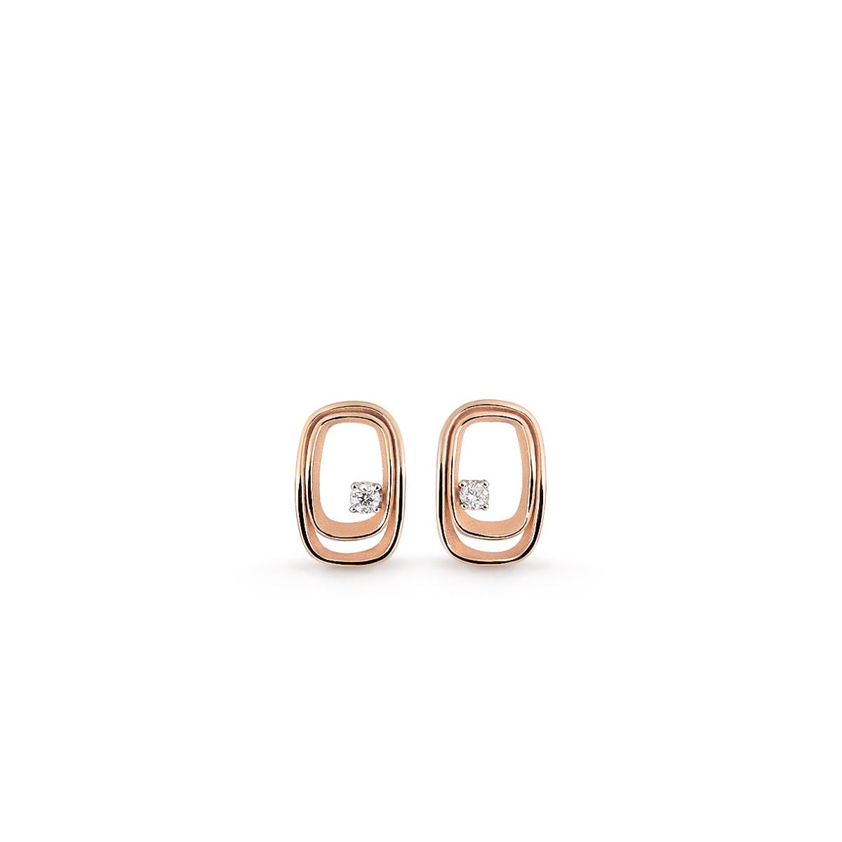 Annamaria Cammilli Dune Ohrschmuck aus 18 Karat Pink Champagne Gold mit Brillanten