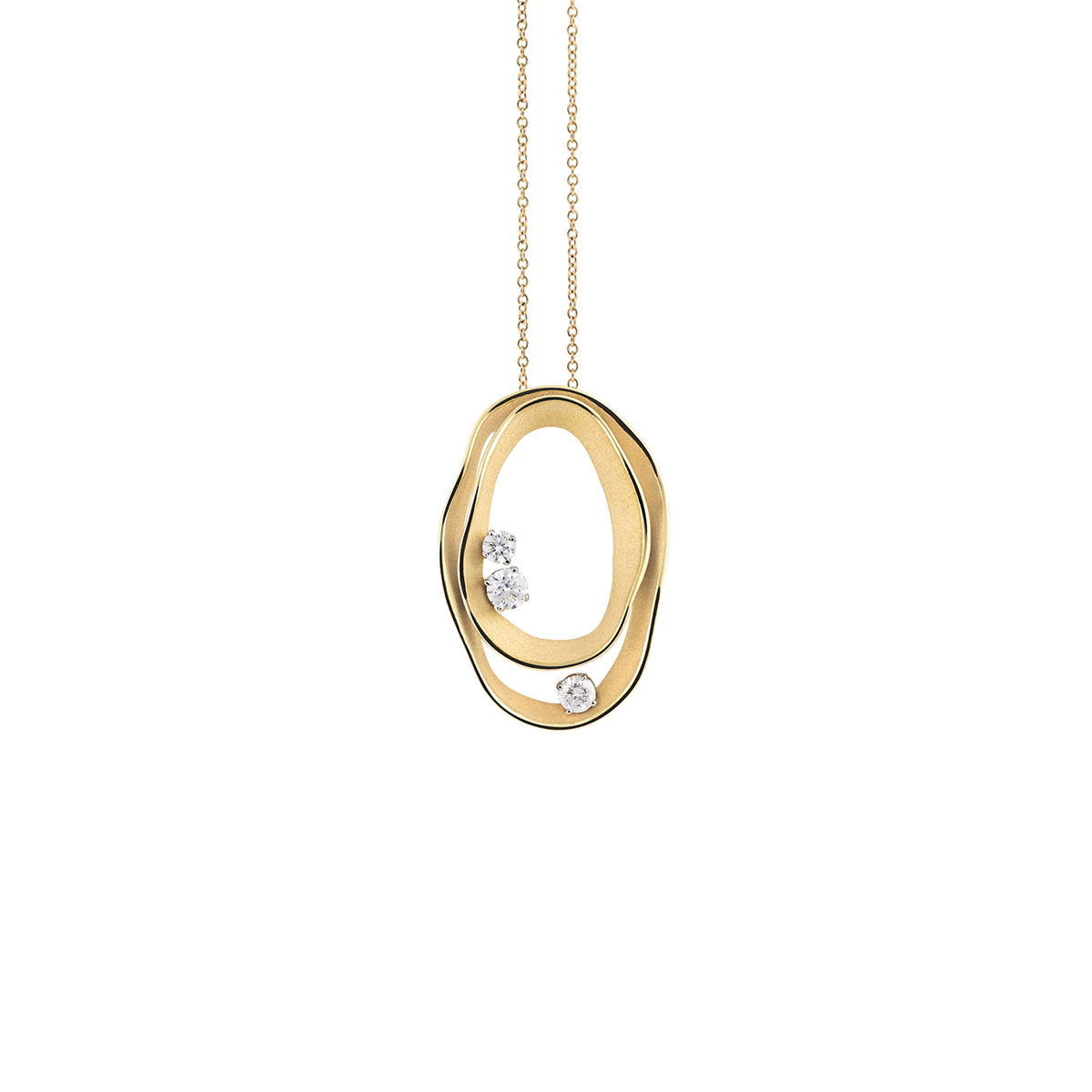 Annamaria Cammilli Dune Collier aus 18 Karat Yellow Sunrise Gold mit Brillanten