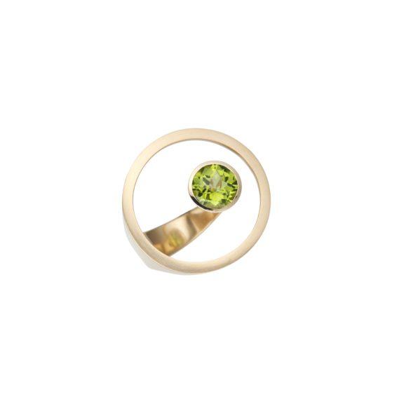 Ring aus 18 Karat Roségold mit Peridot