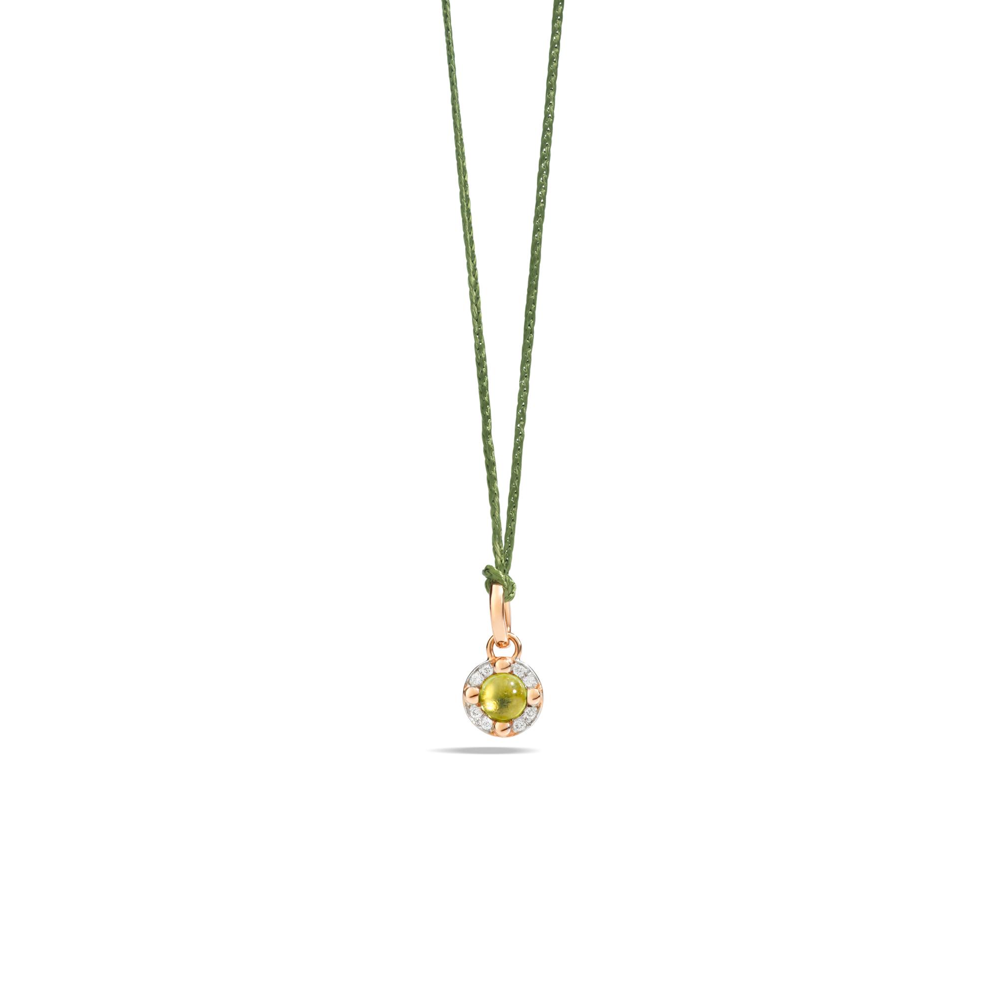 Pomellato M´ama non m´ama Anhänger aus Rosegold mit Peridot und Diamanten