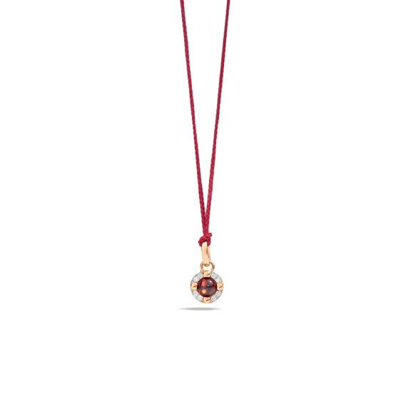 Pomellato M´ama non m´ama Anhänger aus Rosegold mit Granat und Diamanten