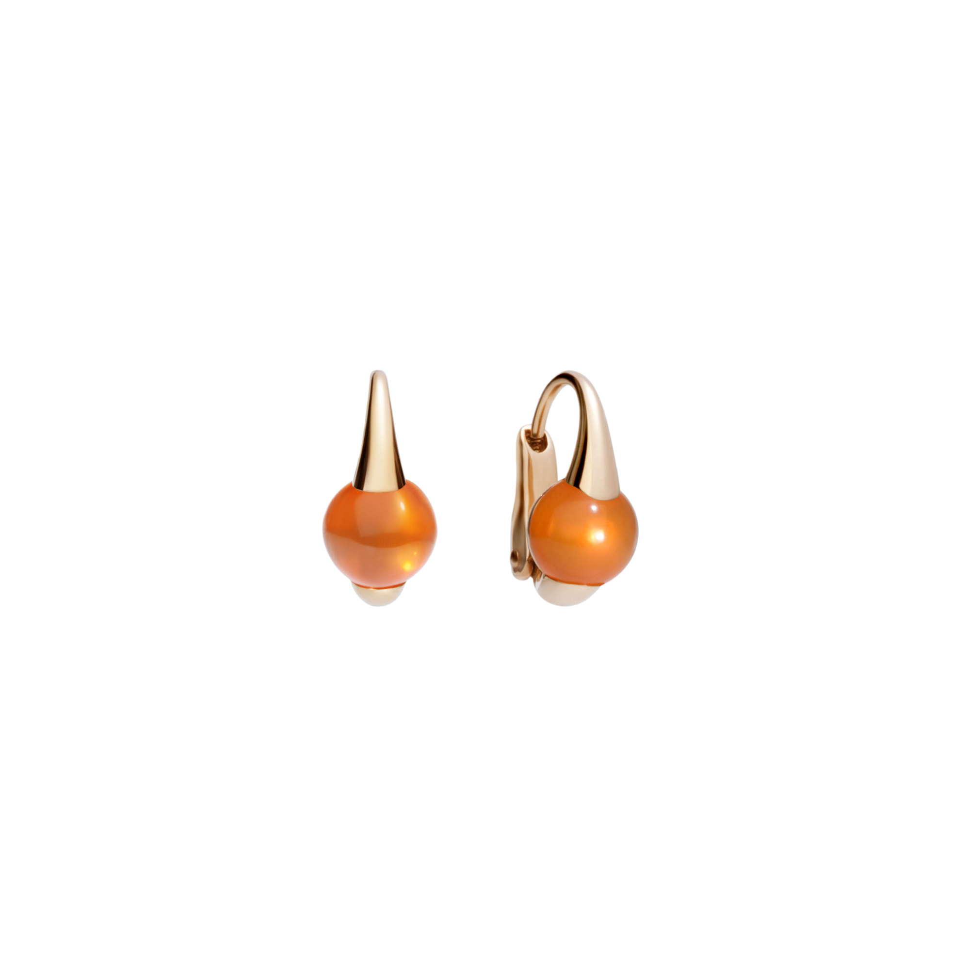 Pomellato M´ama non m´ama Ohrschmuck aus Rosegold mit Granat