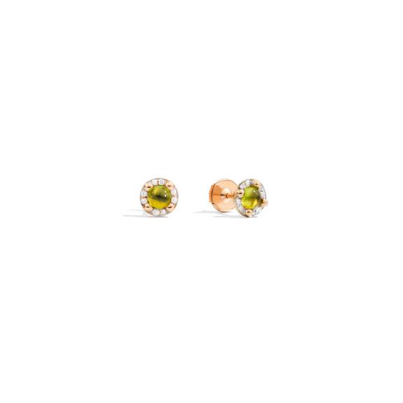 Pomellato M´ama non m´ama Ohrschmuck aus Rosegold mit Peridot und Diamanten